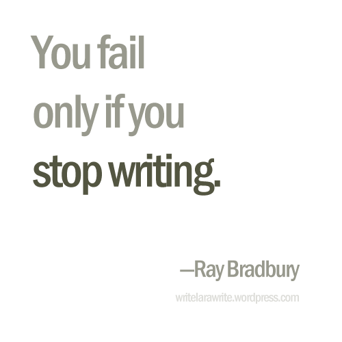 The Myth of Writer's Block | writelarawrite (click for more quotes)