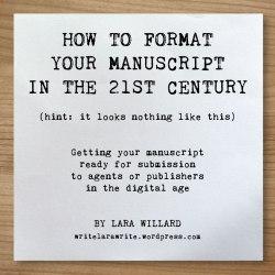 Standard Manuscript Formatting