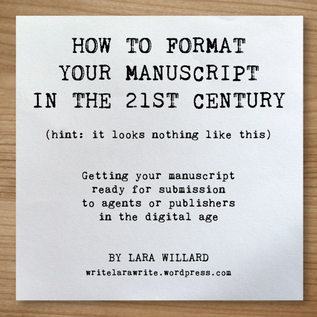 Manuscript Format Template Free Download Lara Willard