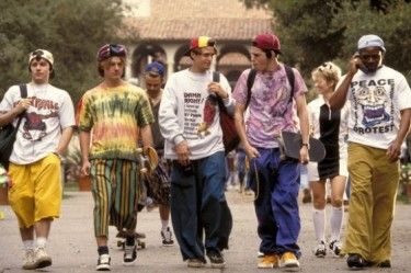 A group of skater-pothead high schoolers from the film CLUELESS.