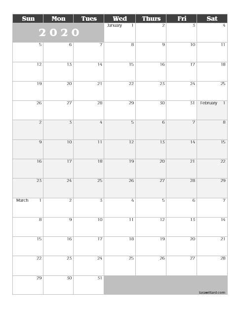 Download] Printable 2020 2021 Quarterly Calendar – Lara Willard